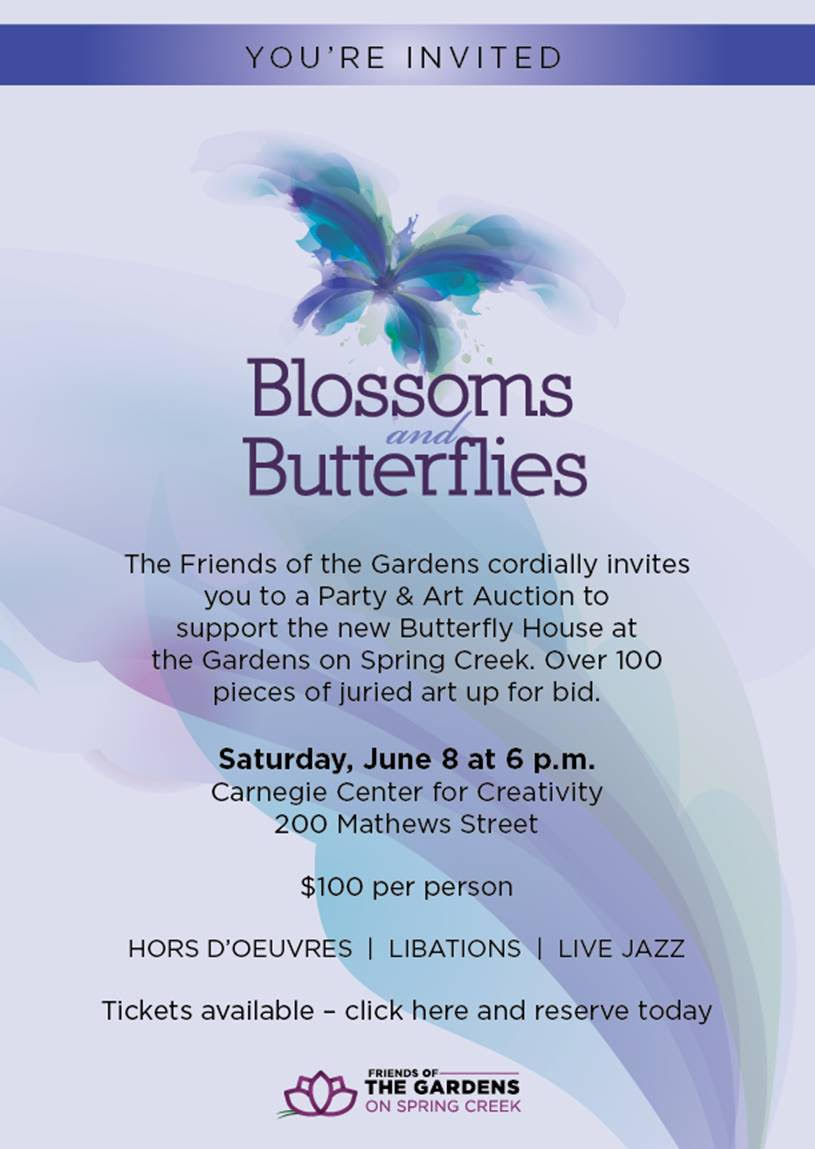 Blossoms and Butterflies 2019 Event Invitation