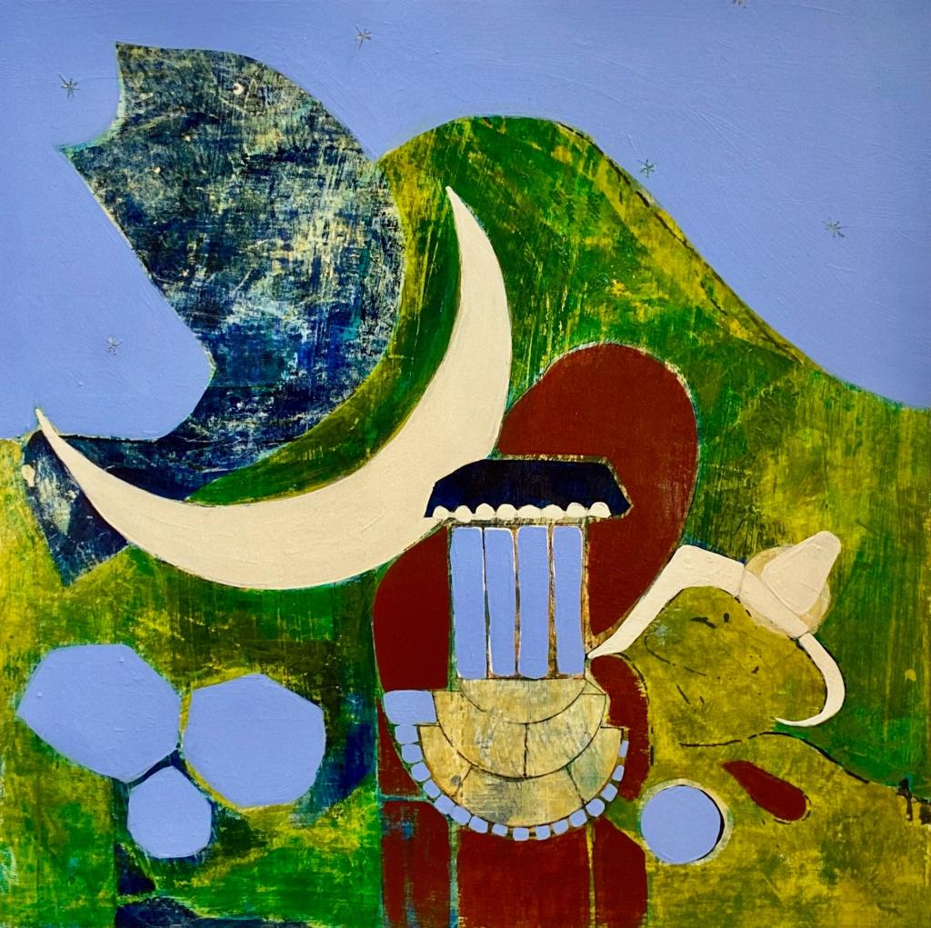 B. Youngquist Art Original mixed media artwork